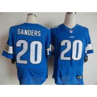 China Nike NFL Detroit Lions 20 B.Sanders blue elite jersey wholesale