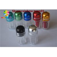 China sex pill bottle with ring cap/ capsule shaped container storage capsule Clear hexagon plastic container with blue cap wholesale