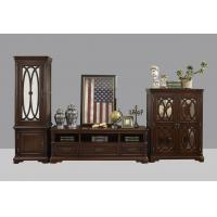 China American Antique Living leisure room furniture sets Wooden TV wall unit set by Floor stand and Tall display cabinet wholesale