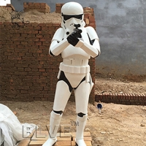 China star wars stormtrooper life size sculpture resin craft art fiberglass anime statues wholesale