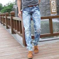 China 2018 Hot sale men's distressed ripped jeans ripped skinny men jeans wholesale