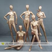 China Cheap full body fiberglass golden female mannequin for window display on sale