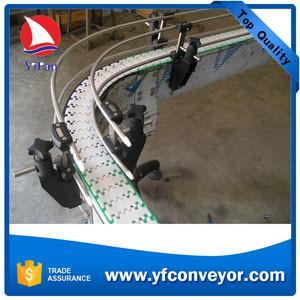 China Flexible Plastic Slat Chain Conveyor on sale