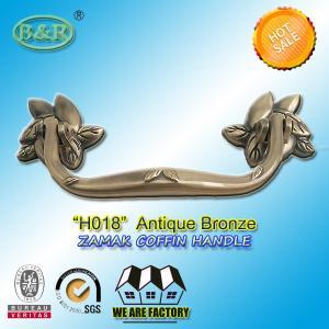 Antique Brass Finish Metal Coffin Handles Zinc Alloy coffin handle H018 antique bronze size 20*7.5cm