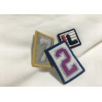 Quality Merrow Border Custom Stitched Patches , Clothing Iron On Embroidered Patches For T Shirts for sale