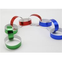 China Holographic Striped Christmas Paper , Gummed Paper Chains For Display SGS wholesale