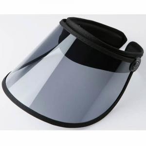 China Outdoor Transparent Sun Visor Caps , UV Protection Navy Blue Plastic Sun Visor Hats wholesale