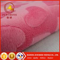 China 2018 New arrival heart design 2mm minky plush fabric on sale