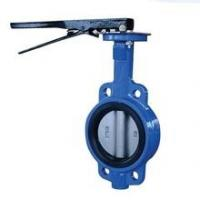 China Metal Seated Cast Iron Butterfly Valves With Pneumatic Actuator D373H-10K wholesale