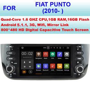 China DDR III 1GB RAM 16GB Flash Fiat Punto Car Stereo Radio GPS Navigation 2010+ NO DVD on sale