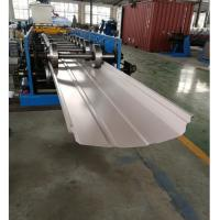 China Adjustable Width Standing Seam Roof Panel Roll Forming Machine With Auto Seamer wholesale
