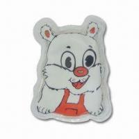 China Hot Water Bag in Cat Design, Reusable, Non-toxic and Non-caustic Features wholesale