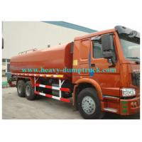 China Howo water tank truck 20cbm  tank capacity with engine 300hp EURO III red color wholesale