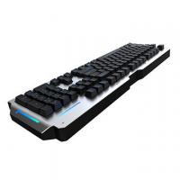 China RGB Metal Mechanical Keyboard 104 Keys Waterproof Blue Switch Anti Ghosting wholesale