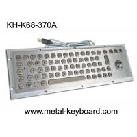 Buy cheap Vandal Resistant Industrial Computer Keyboard with trackball , water resistant keyboard Metal from wholesalers