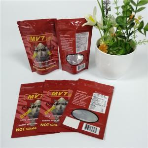 China Grip Sealed Herbal Incense Packaging Aluminum Foil Ziplock Bags For Rhino Capsule Powder wholesale
