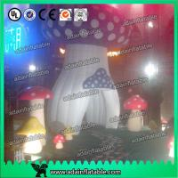 China Red Yellow Purple Decoration Standing Inflatable Mushroom With led Giant wholesale