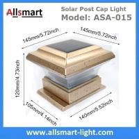 China Saturn Anello LED Post Cap Imperial Solar Post Cap Light by Classy Caps Prestige Sustainable illuminating Protect Wood wholesale
