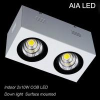 China IP42 europe square double COB 20W led down light&LED Grille light for office used wholesale