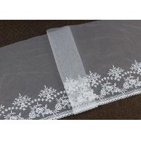 Buy cheap Vintage Embroidered Floral Nylon Mesh Lace Trim Gauze Tulle For Dresses Borders from wholesalers