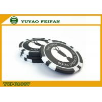 China Dollar Store Plastic Black Customized Poker Chip With Laser Sticker on sale