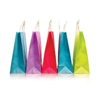 China OEM / ODM Full Color Promotional Paper Carrier Bags 200g / 250g Ivory Board on sale