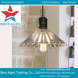 VINTAGE ANTIQUE INDUSTRIAL LOFT BAR GLASS METAL PENDANT LAMP SHADE CEILING LIGHT