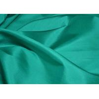 China 68.8 Gsm Dupioni Silk Fabric Green Color , Durable Chinese Silk Fabric In Stock on sale