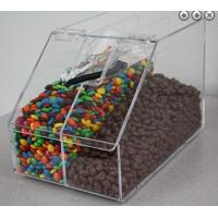 Quality Acrylic Candy Store Display Cases , Divided Acrylic Bin Display for sale