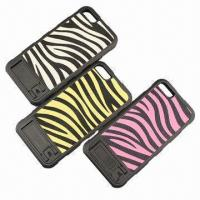 China 500-piece Zebra-stripe Cases for iPhone 5G, Made of TPU + Aluminum, Elegant Surface, Good Feeling wholesale