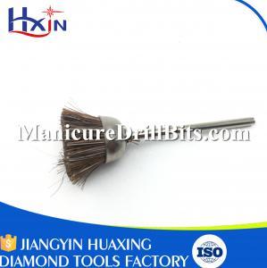 Gold Shank Brass Polishing Brush , Nail Drill Bit Brush Length 47mm Eco Friendly