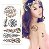 Buy cheap Gold / Silver Metallic Foil Golden Flash Tattoo Water Transfer Paper For Women from wholesalers