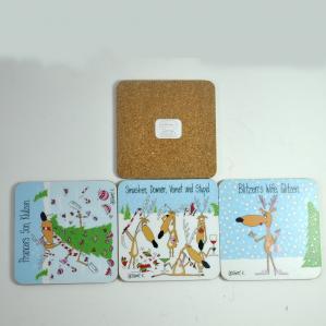 China Cheap price oem custom promotion gift blank cork coaster wholesale