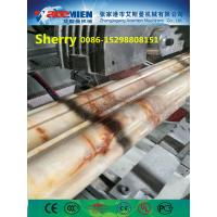 China PVC artificial marble profile making machine extrusion line marble profile production line wholesale