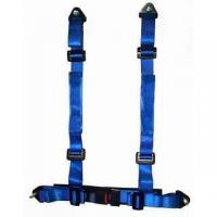 China Durable Blue Nylon Racing Safety Belts With Retractor , Four Point Seat Belt wholesale
