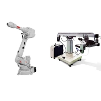 China 6 Axis robot arm IRB2600 reach 1650mm IP67 industrial robot with laser welding machine wholesale