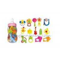 China Plastic Baby Cool Teething Rings Rattle Gift Set  For Children , Lovely Musical Toy on sale