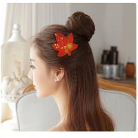China Hair Decoration Leather Velcro Hair Bows For Infants / Babies / Little Girls wholesale
