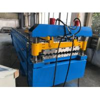 China 380V 50Hz 3 Phases Roof Panel Roll Forming Equipment Manual Decoiler 20GP Container wholesale