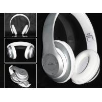 China Best Bluetooth Headphones with Mic and fm, best quality bluetooth headphones in silver color wholesale