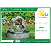 China Granite Water Cast Stone Garden Fountains With Crystal Ball Outdoor Ornament wholesale