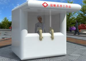 China Air Sealed Mobile Fast Set Up Inflatable Nucleic Acid Booth Sampling Cabin Workstation wholesale