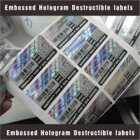 China Tamper Evident Destructible Vinyl Laser Labels High Security With Custom Pattern wholesale