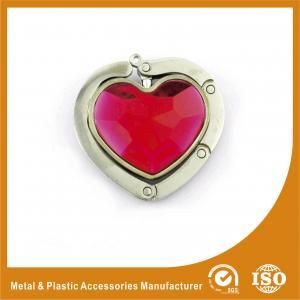 China Luxury Metal Portable Purse Hook Hangers For Handbags Heart Shape wholesale