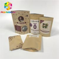 China Doypack Laminated Aluminum Foil Zip Kraft Paper Pouches For Packaging Rice Body Scrub wholesale