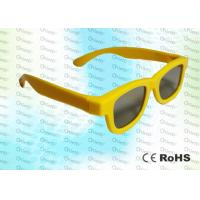 China Yellow Ghost And Flicker Free Circular Polarized 3d Glasses For 3D TV Use wholesale