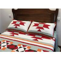 China Patchwork Geometric Bedding Sets , Quilting Handmade Twin Bed Sets For Adults wholesale