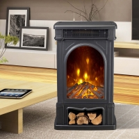 China 3 Sides Wooden Burning Electric Fireplace Heater New Patented Led Flame Effect Freestanding Stove ND-190C wholesale