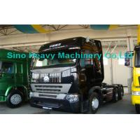 China 420HP HOWO A7 Prime Mover Truck Trailer , Diesel 6x4 Transport Trucks , Wild Black wholesale