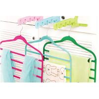 China Wardrobe Green / Blue Multiple Clothes Hangers For Trousers / Stocking / Pants wholesale